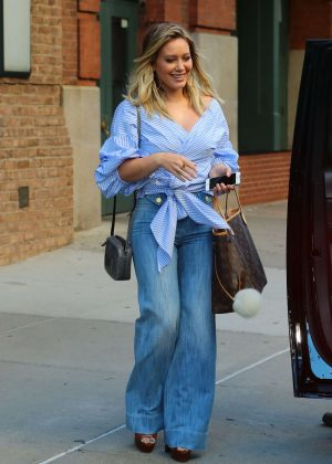 Hilary Duff in Jeans Leaves the Hotel in New York