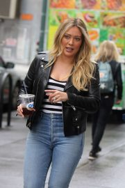Hilary Duff in Jeans - On the set of 'Younger' in NYC