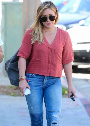 Hilary Duff in Jeans out and about in Los Angeles