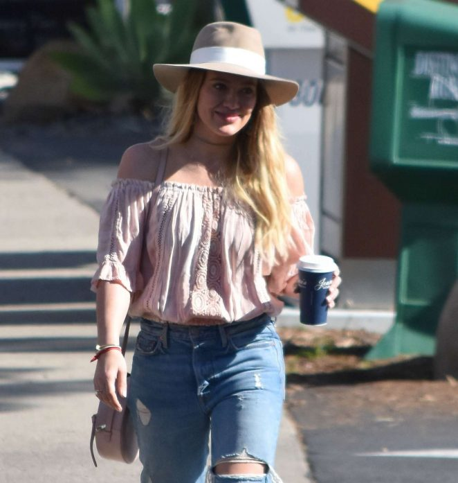 Hilary Duff in Jeans out and about in Santa Barbara