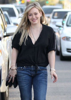 Hilary Duff in Jeans out in Beverly Hills