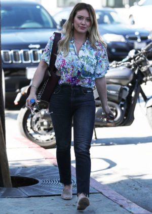 Hilary Duff in Jeans - Out in West Hollywood