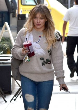 Hilary Duff in Jeans Shopping in West Hollywood