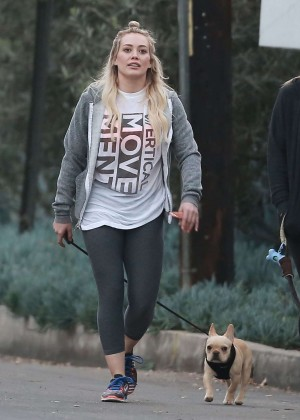 Hilary Duff in Leggings out in Beverly Hills