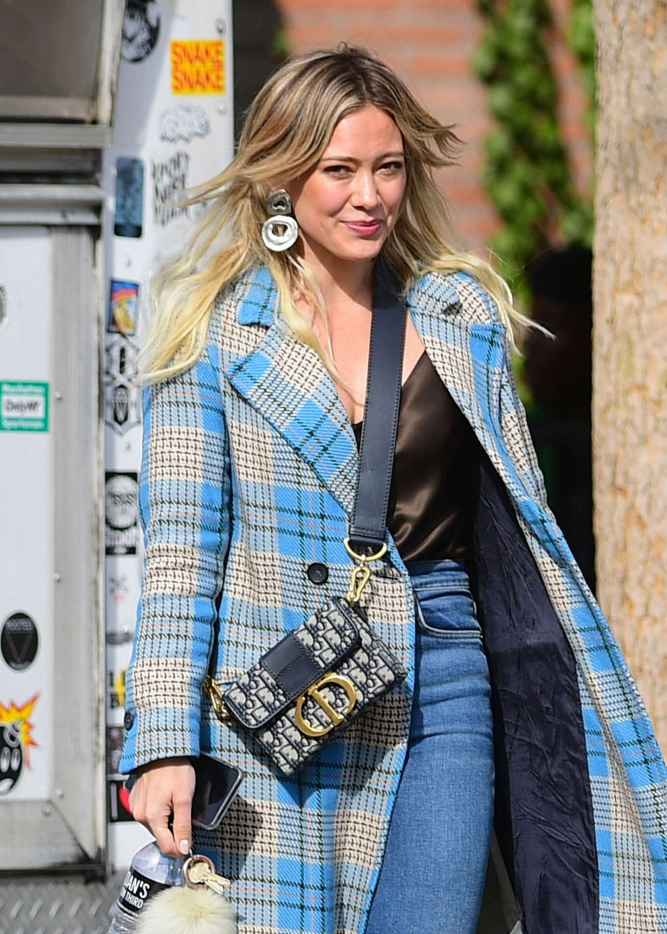 Hilary Duff in Long Coat - Out in Los Angeles