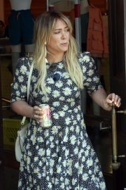 Hilary Duff in Long Summer Dress - Out in Sherman Oaks