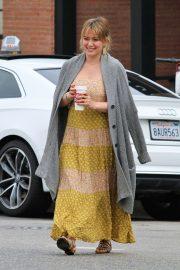 Hilary Duff in Long Summer Dress - Shopping in Studio City
