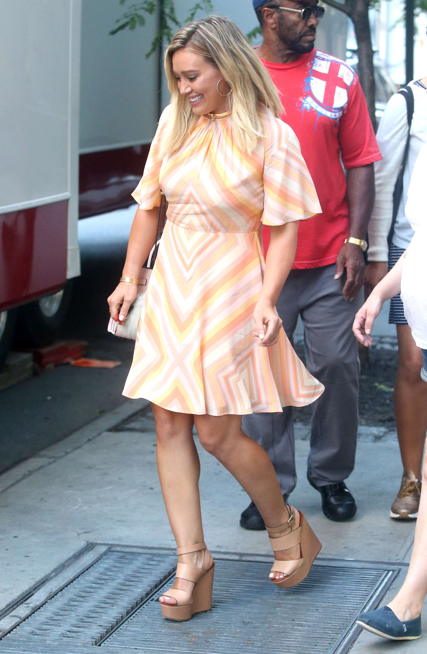 Hilary Duff 2016 : Hilary Duff in Mini Dress on the set of Younger -04