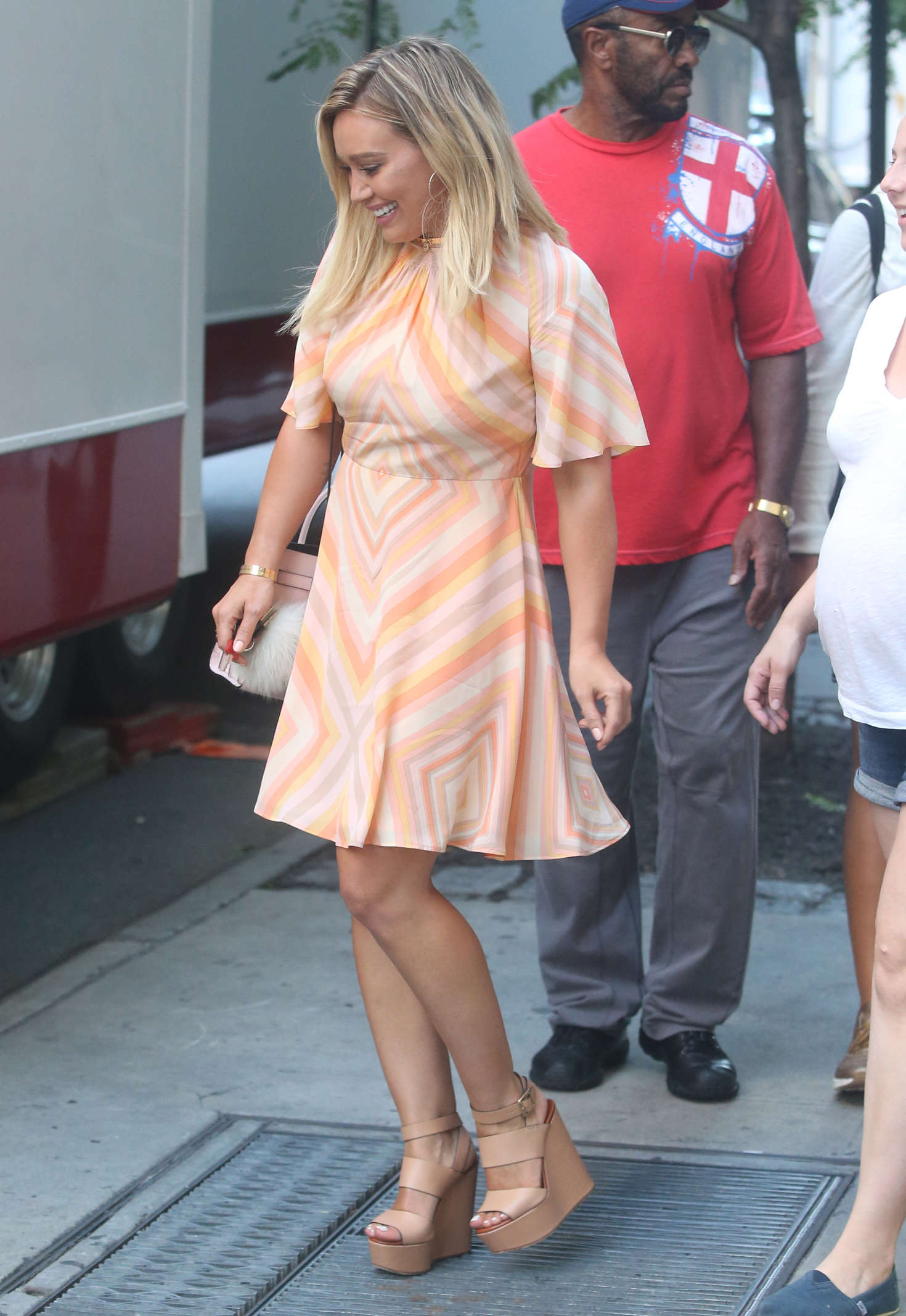 Hilary Duff 2016 : Hilary Duff in Mini Dress on the set of Younger -07