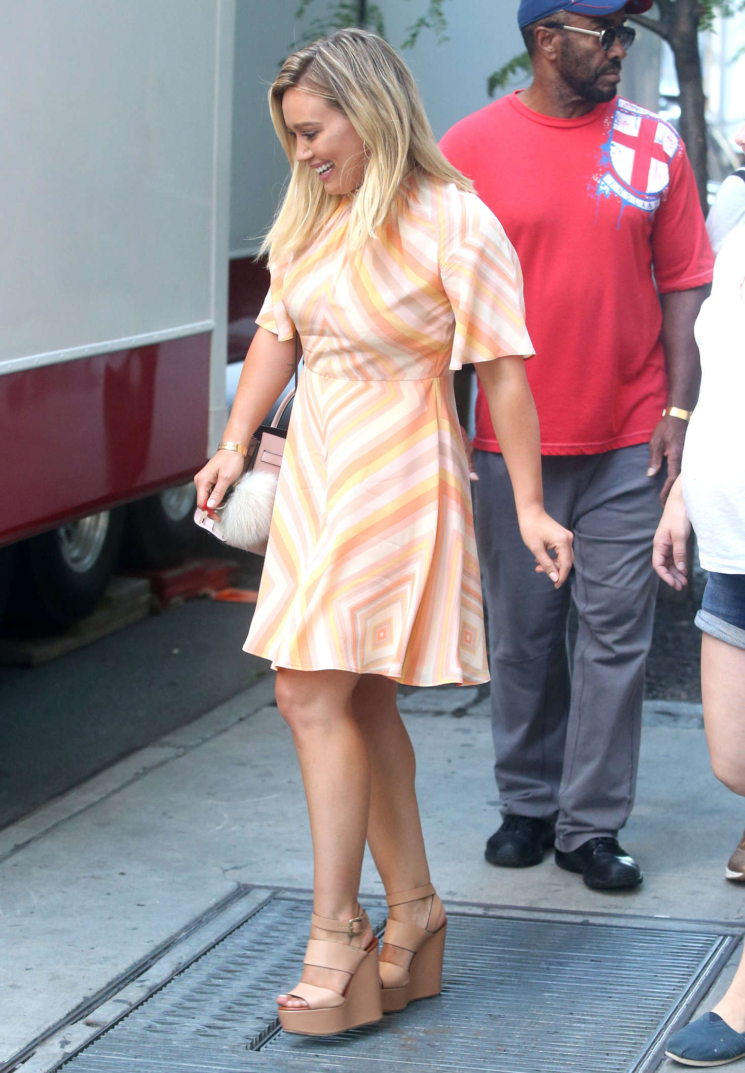 Hilary Duff 2016 : Hilary Duff in Mini Dress on the set of Younger -08