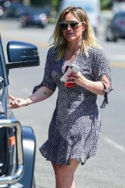 Hilary Duff in Mini Dress - Shopping in Studio City