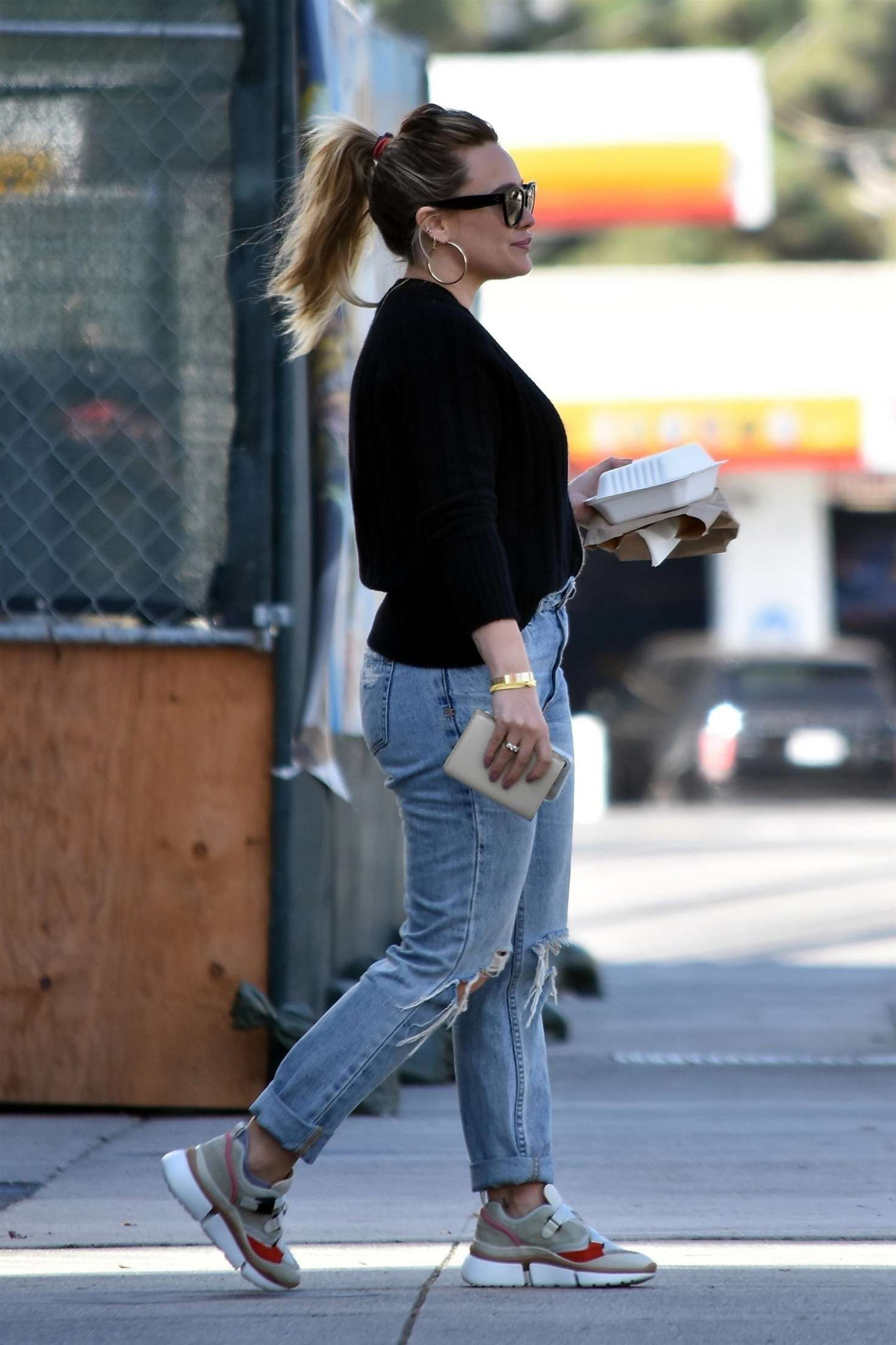 Hilary Duff in Ripped Jeans out in Los Angeles