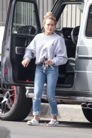 Hilary Duff in Ripped Jeans - Out in Studio City