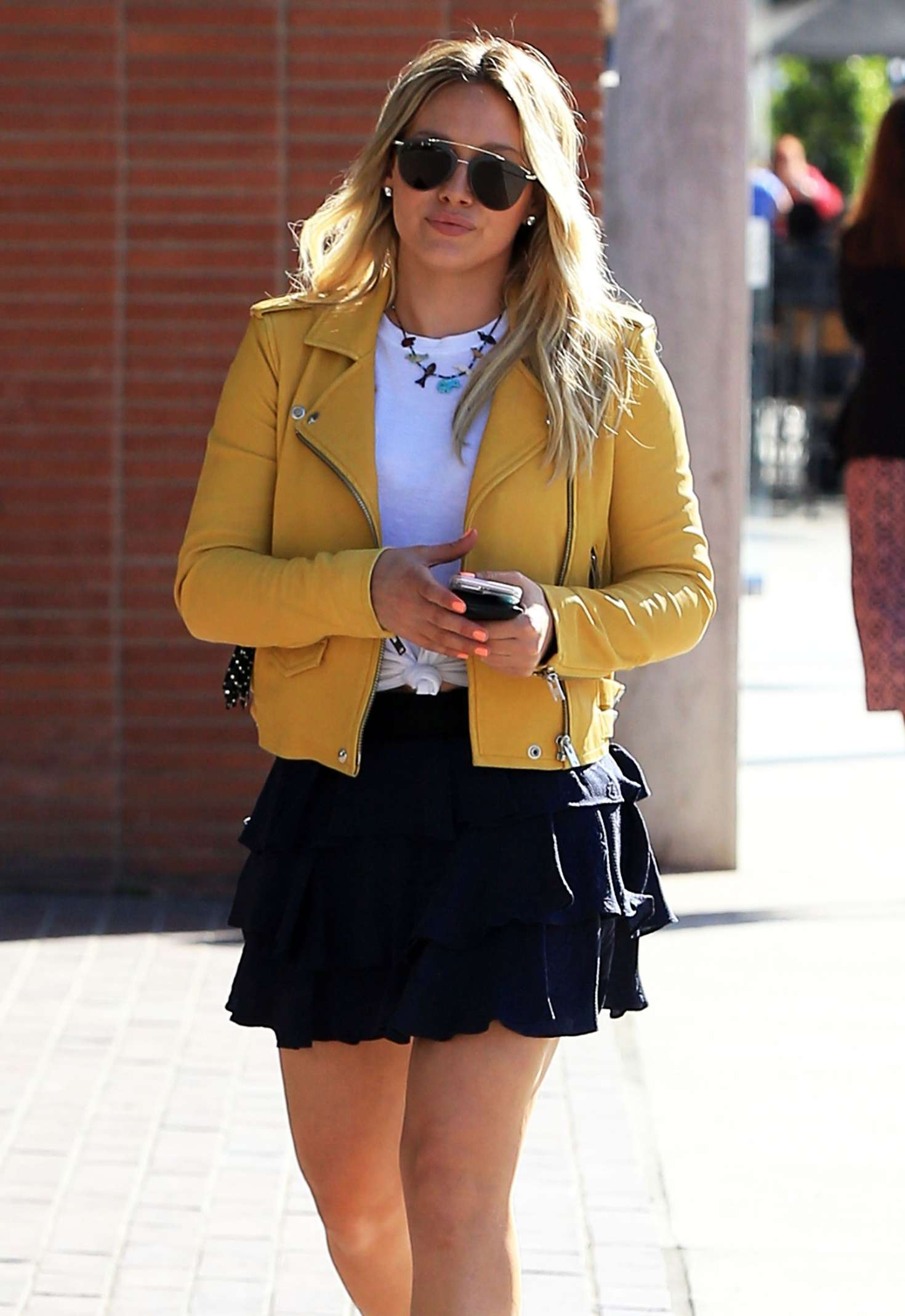 Hilary Duff in Short Skirt out in Beverly Hills