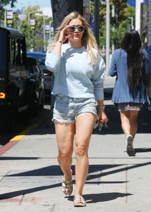 Hilary Duff in Shorts out in Beverly Hills