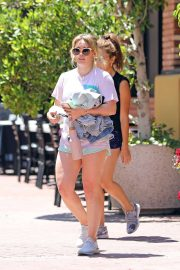 Hilary Duff in Shorts - Out in Los Angeles
