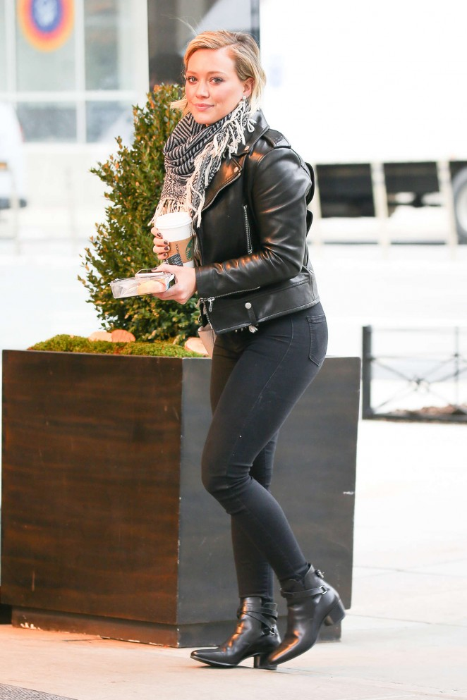 Hilary Duff in Skinny Jeans out in New York City