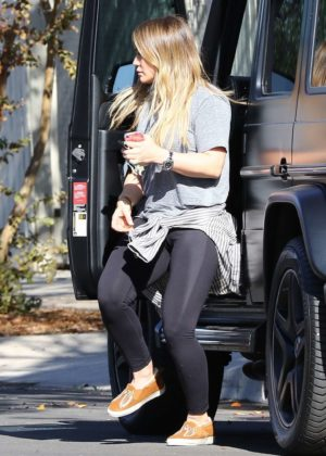 Hilary Duff in Spandex - After workout in Los Angeles