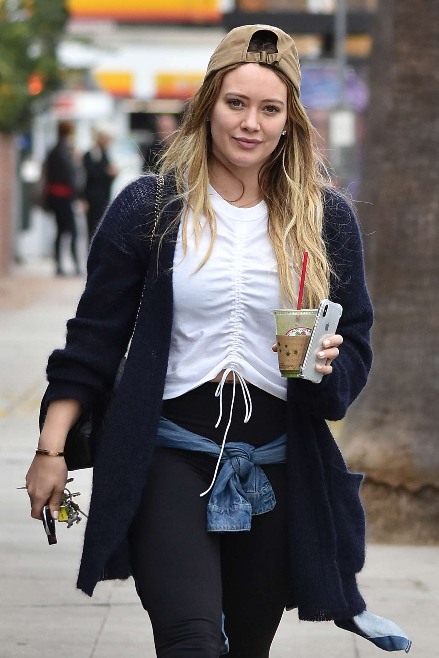 Hilary Duff in Spandex - Leaves Joan's on Third in Studio City