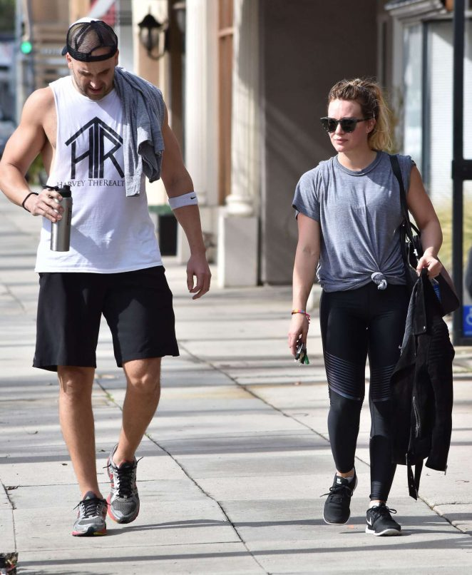 Hilary Duff in Spandex out in Los Angeles -10