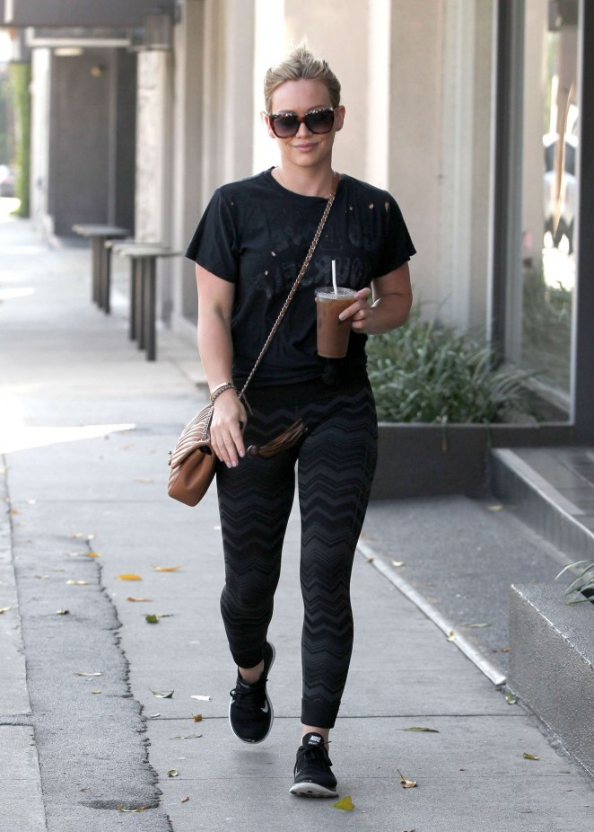 Hilary Duff in Spandex Out in West Hollywood