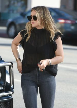 Hilary Duff in Tight Jeans - Out and about in LA