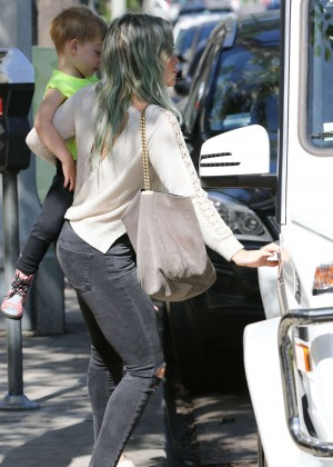 Hilary Duff Booty in Tight Jeans Out in LA