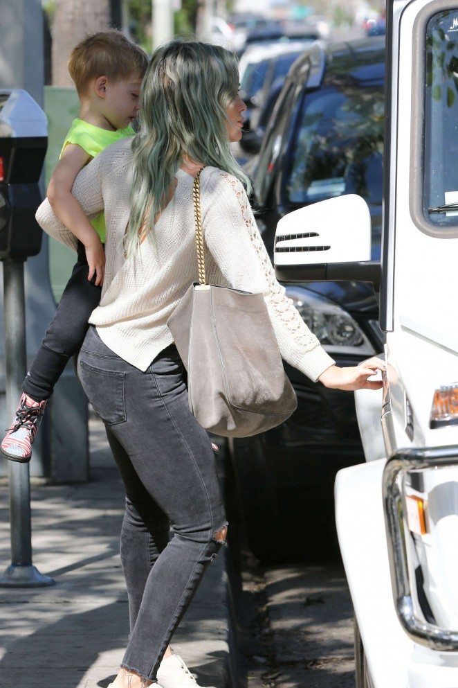 Hilary Duff in Tight Jeans Out in LA