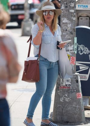 Hilary Duff in Tight Jeans Out in New York City