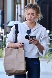 Hilary Duff - In tight seen while out in Studio City