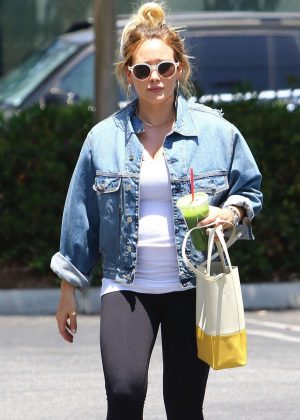 Hilary Duff in Tights with Matthew Koma - Head to the gym in Studio City