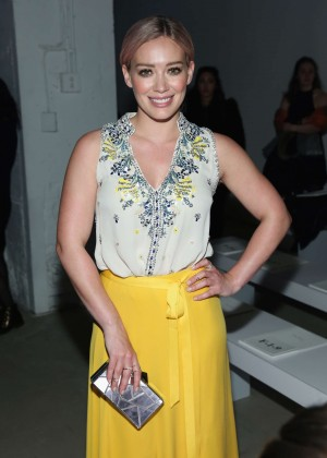 Hilary Duff - Jenny Packham Fall 2016 Fashion Show in NYC