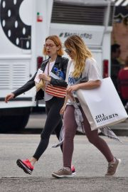 Hilary Duff - Joins a friend at a shopping in Studio City