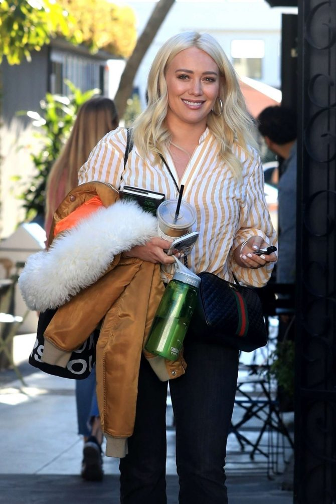 Hilary Duff - Leaves a salon in West Hollywood
