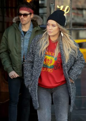 Hilary Duff - Leaves her hotel in NYC