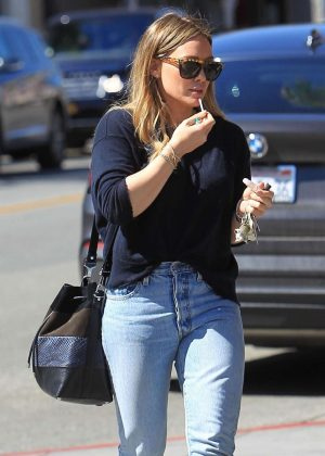 Hilary Duff - Leaves Il Pastaio in LA