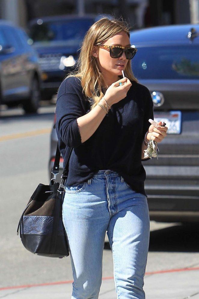 Hilary Duff – Leaves Il Pastaio in LA