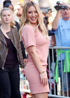 Hilary Duff - Leaves SiriusXM Studios in New York