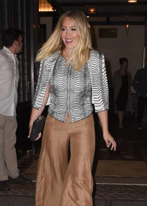 Hilary Duff Leaves the Greenwich Hotel in NYC