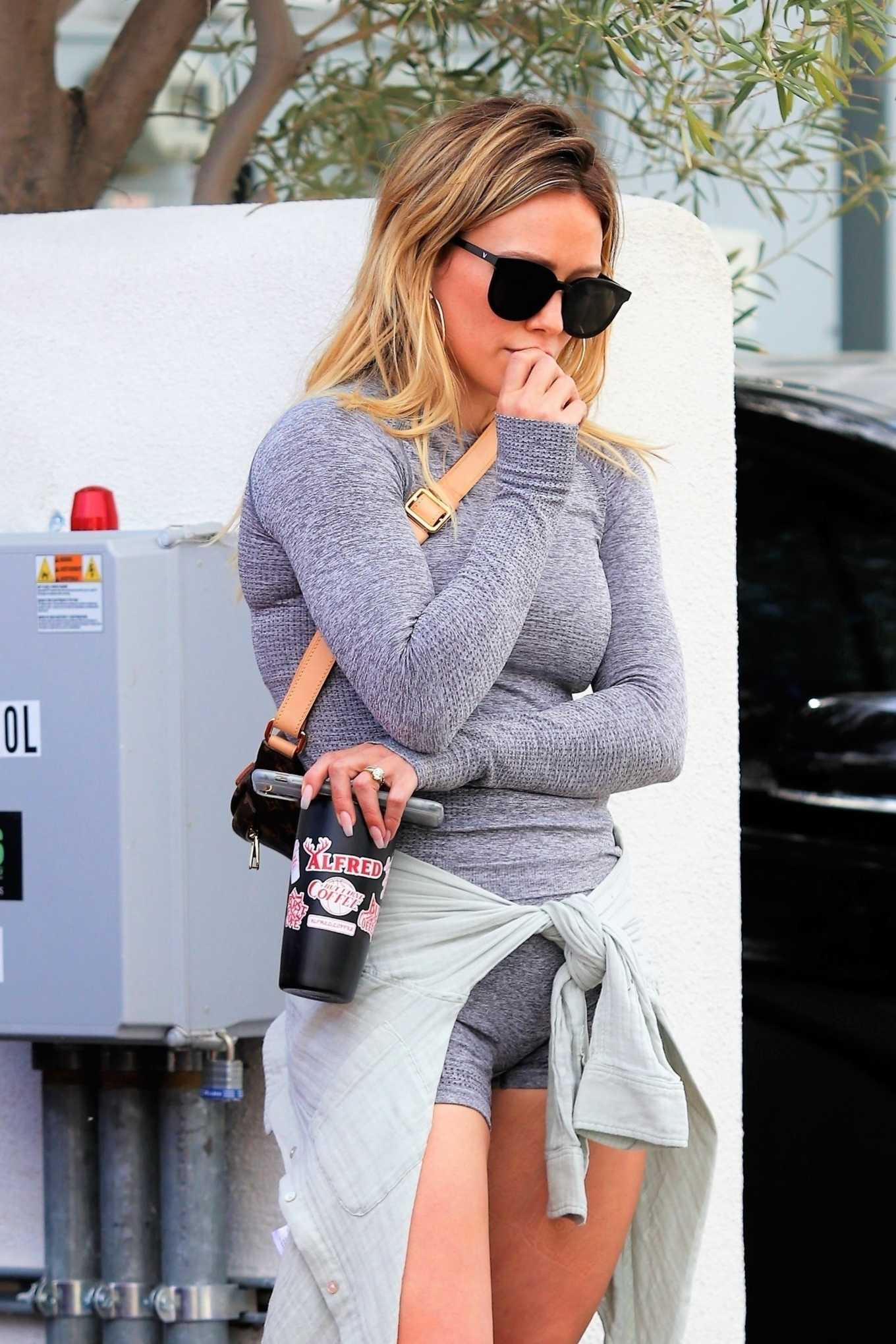 Hilary Duff - Leaves Yoga session in Beverly Hills