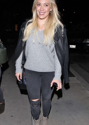 Hilary Duff - Leaves Zinque in West Hollywood