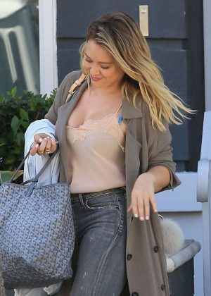 Hilary Duff - Leaving a Friend's House in Beverly Hills