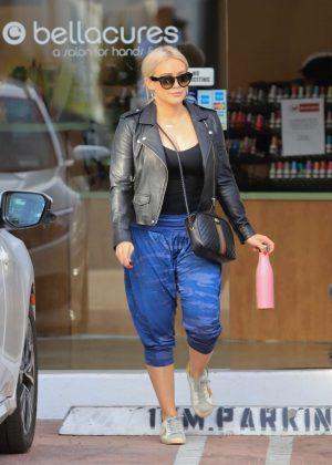 Hilary Duff - Leaving a salon in Los Angeles