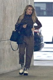 Hilary Duff - Leaving an office building in Burbank