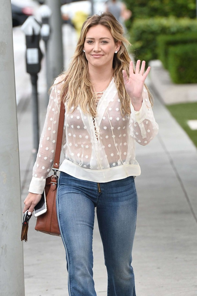 Hilary Duff - Leaving Cafe Zinque in West Hollywood
