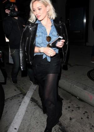 Hilary Duff - Leaving Craig's Restaurant in West Hollywood