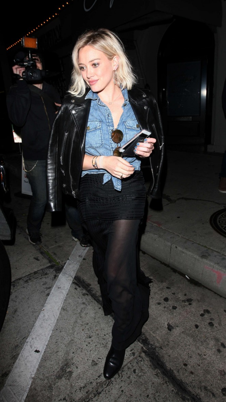 Hilary Duff – Leaving Craig's Restaurant in West Hollywood
