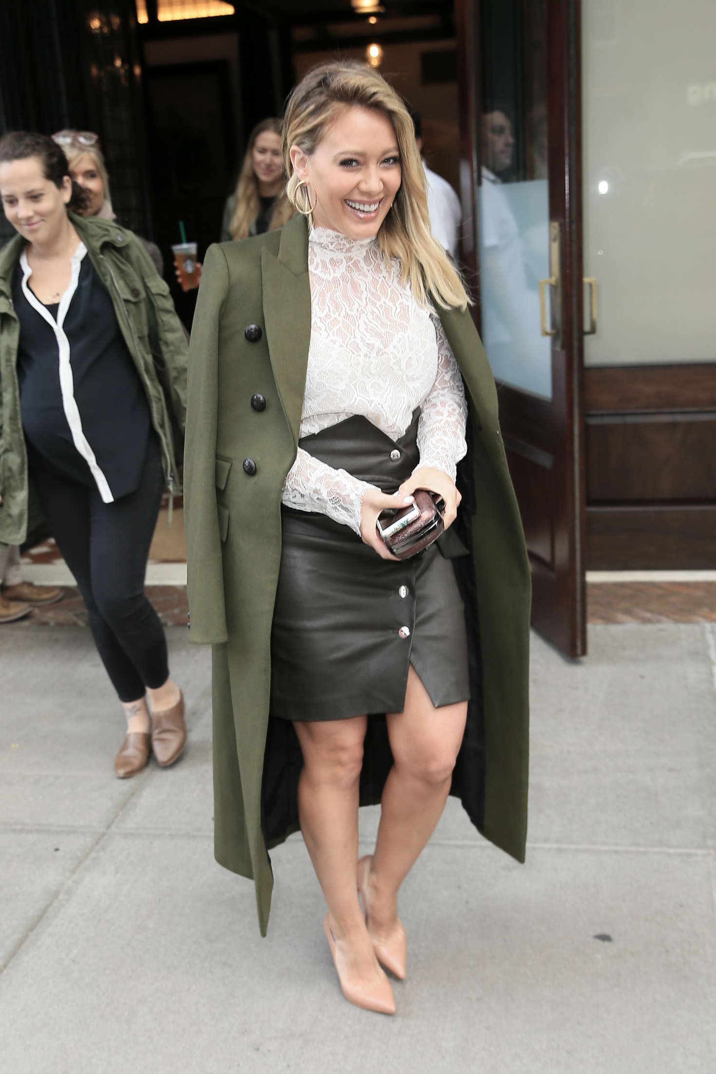 Hilary Duff - Leaving her Tribeca Hotel in New York