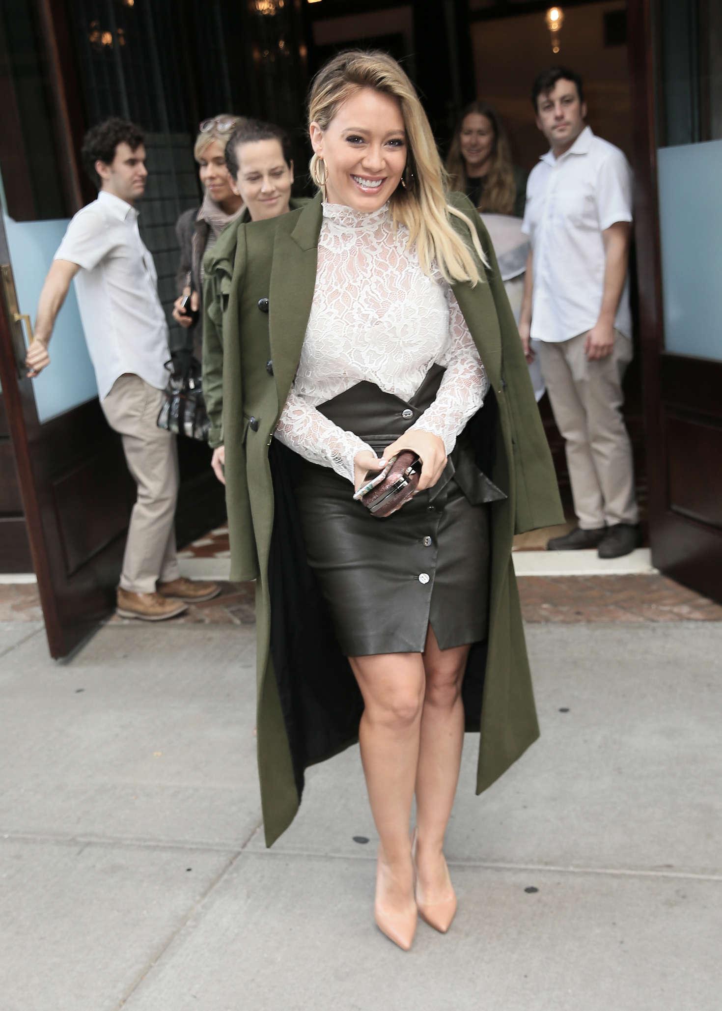 Hilary Duff 2016 : Hilary Duff: Leaving her Tribeca Hotel in New York -06