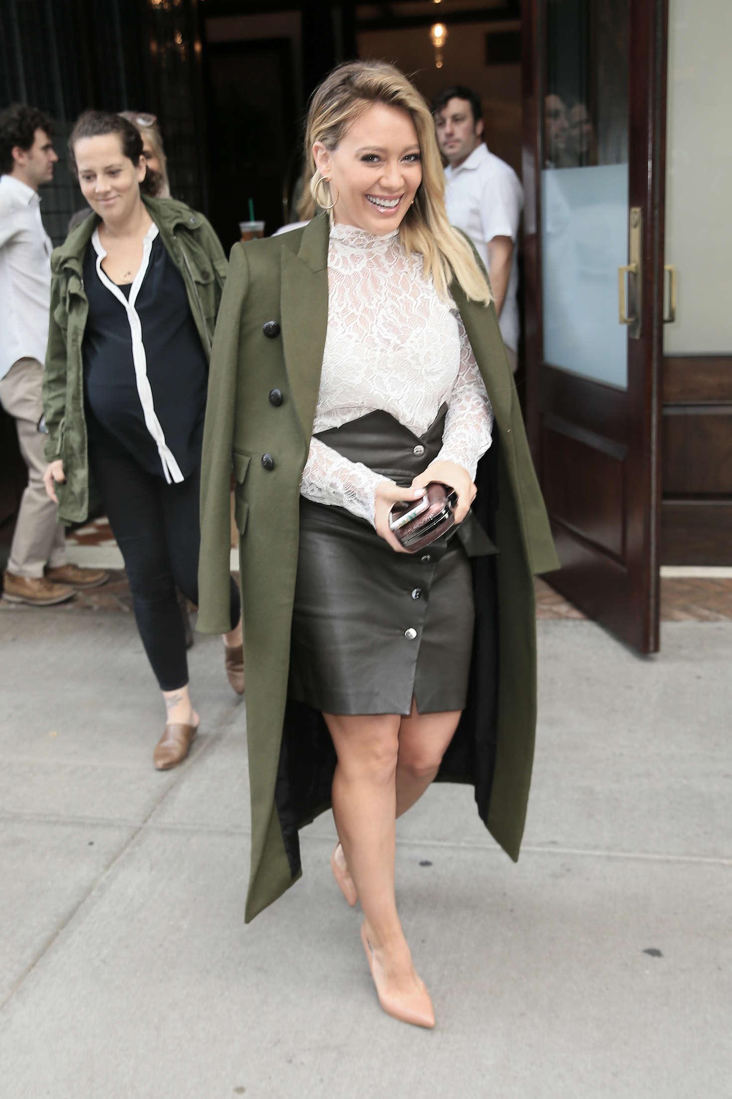 Hilary Duff 2016 : Hilary Duff: Leaving her Tribeca Hotel in New York -07
